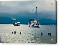 Acrylic Print featuring the photograph Moored Boats by Kim Wilson