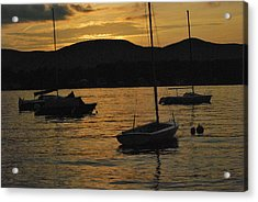 Moored Acrylic Print by Peter Williams