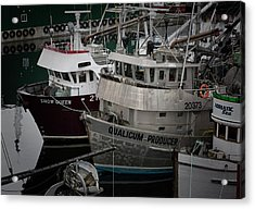 Moored Acrylic Print by Randy Hall