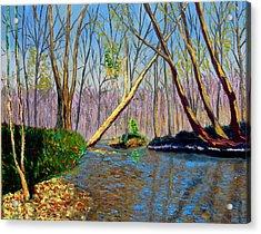 Mooresville November Acrylic Print by Stan Hamilton