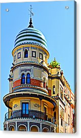 Moorish Tower With Hdr Processing Acrylic Print by Mary Machare