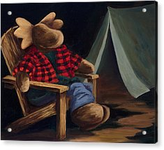 Moose Camp Acrylic Print