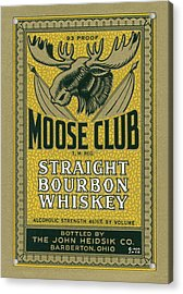Acrylic Print featuring the photograph Moose Club Bourbon Label by Tom Mc Nemar