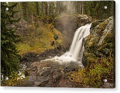 Acrylic Print featuring the photograph Moose Falls by Gary Lengyel