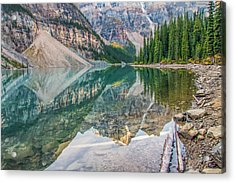 Acrylic Print featuring the photograph Moraine Lake 2009 04 by Jim Dollar