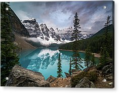 Moraine Lake In The Canadaian Rockies Acrylic Print