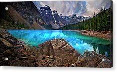 Acrylic Print featuring the photograph Moraine Lake by John Poon