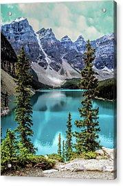 Moraine Lake Acrylic Print by Lynn Bolt