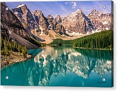 Acrylic Print featuring the photograph Moraine Lake Valley Of The Ten Peaks by Claudia Abbott