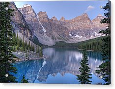 Moraine Lake - Valley Of The Ten Peaks Acrylic Print by Darlene Bushue