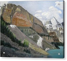Acrylic Print featuring the painting Valley Of The Ten Peaks by Linda Feinberg