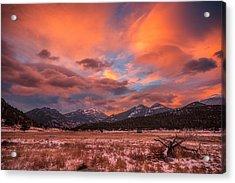 Morain's Sunrise Acrylic Print by Darren White