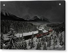 Morant's Curve - Winter Night Acrylic Print by Brad Allen Fine Art