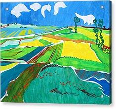 Moravian Landscape Acrylic Print by Vitali Komarov