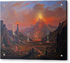 Mordor Land Of Shadow Acrylic Print by Joe Gilronan