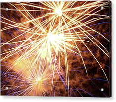 More Fireworks - 2 Acrylic Print by Jeffrey Peterson