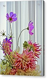More Formal Flowers Acrylic Print by John Toxey