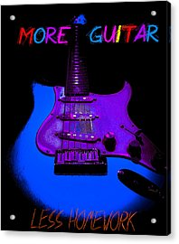 Acrylic Print featuring the photograph More Guitar Less Homework by Guitar Wacky