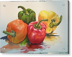 More Peppers Acrylic Print