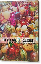 More Sparkle Quote Acrylic Print by JAMART Photography