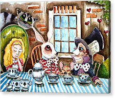More Tea Acrylic Print by Lucia Stewart