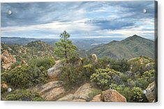 Acrylic Print featuring the photograph Morena Valley And Los Pinos Mountain by Alexander Kunz