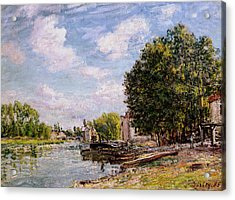 Moret-sur-loing Acrylic Print by Alfred Sisley
