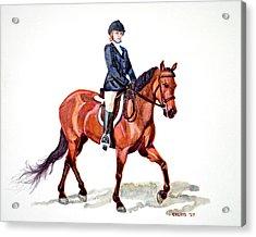 Morgan And Mystic Acrylic Print by Cheryl Dodd