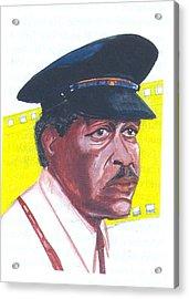 Acrylic Print featuring the painting Morgan Freeman by Emmanuel Baliyanga