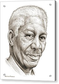 Morgan Freeman Acrylic Print by Greg Joens