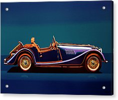 Morgan Roadster 2004 Painting Acrylic Print by Paul Meijering