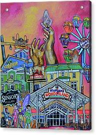 Acrylic Print featuring the painting Morgans Wonderland by Patti Schermerhorn