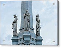 Moriarity Tomb - Faith Hope Charity, Memory Acrylic Print
