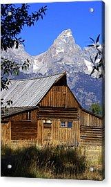 Mormon Row Barn  1 Acrylic Print by Marty Koch