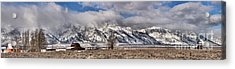 Acrylic Print featuring the photograph Mormon Row Extended Panorama by Adam Jewell
