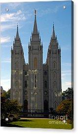 Mormon Temple Fall Acrylic Print by David Lee Thompson