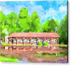Morning After The Rain - Oglethorpe Barbecue Acrylic Print by Mark Tisdale