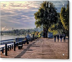 Acrylic Print featuring the photograph Morning Along The Rhine by Jim Hill