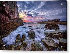 Morning At Bald Head Cliff Acrylic Print by Rick Berk