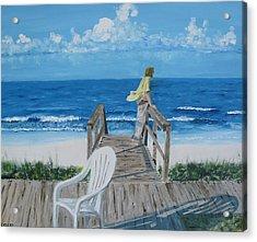 Morning At Blue Mountain Beach Acrylic Print by John Terry