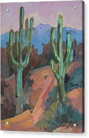 Acrylic Print featuring the painting Morning At Fort Apache by Diane McClary