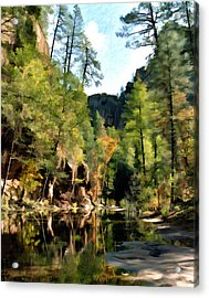 Morning At Oak Creek Arizona Acrylic Print by Kurt Van Wagner