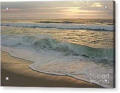 Acrylic Print featuring the photograph Morning  At The Beach by Nicola Fiscarelli