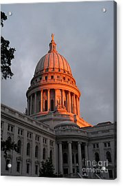 Morning At The Capitol Acrylic Print by David Bearden