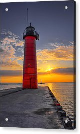 Morning At The Kenosha Lighthouse Acrylic Print