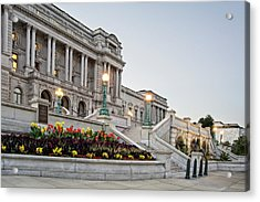 Morning At The Library Of Congress Acrylic Print by Greg Mimbs