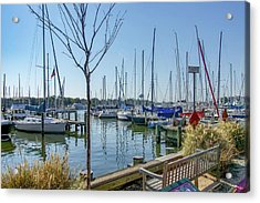 Acrylic Print featuring the photograph Morning At The Marina by Charles Kraus