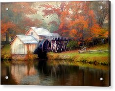 Morning At The Mill Acrylic Print by Darren Fisher