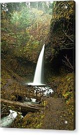 Morning At The Waterfall Acrylic Print