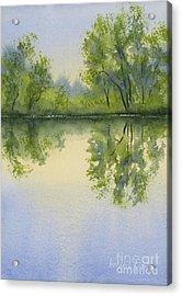 Morning At Turtle Pond Acrylic Print